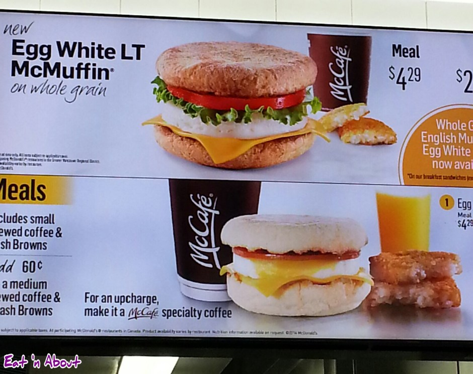McDonald's: Egg White LT McMuffin on whole grain