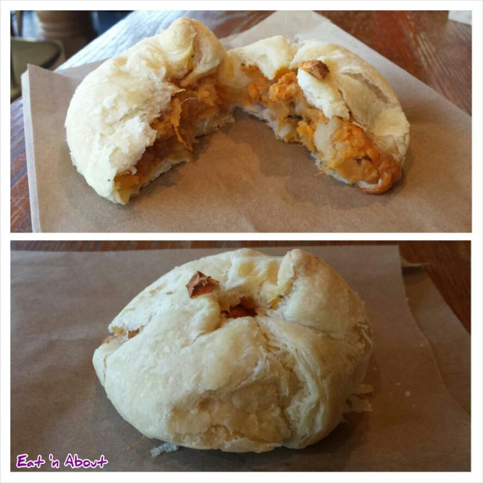 Solly's Bagelry: Yam and Ginger Knish