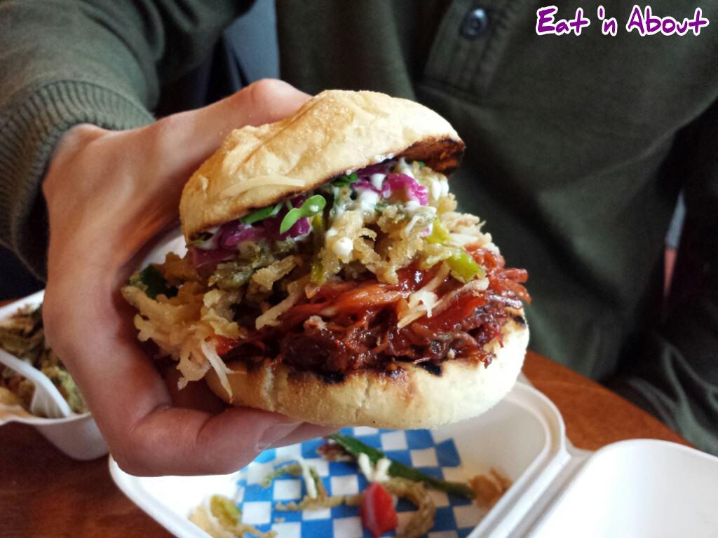 Fliptop Filipino Fusion: Fliptop's Pulled Pork Sandwich