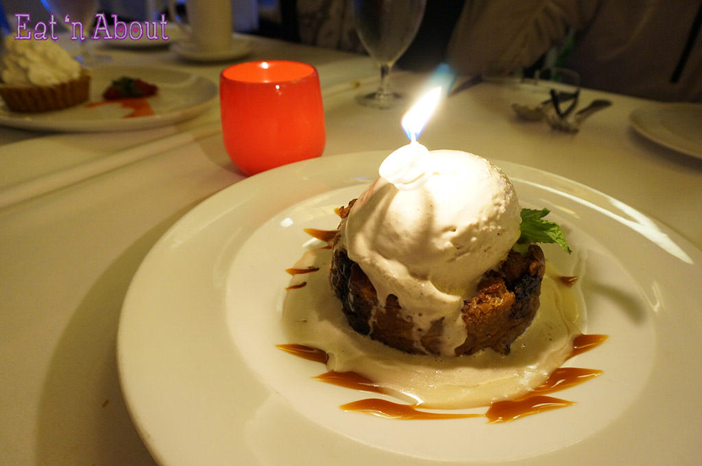 John Howie Steak - Bourbon Soaked Black Cherry Bread Pudding