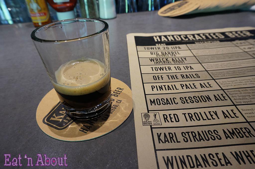 Karl Strauss Brewery & Gardens - beer menu