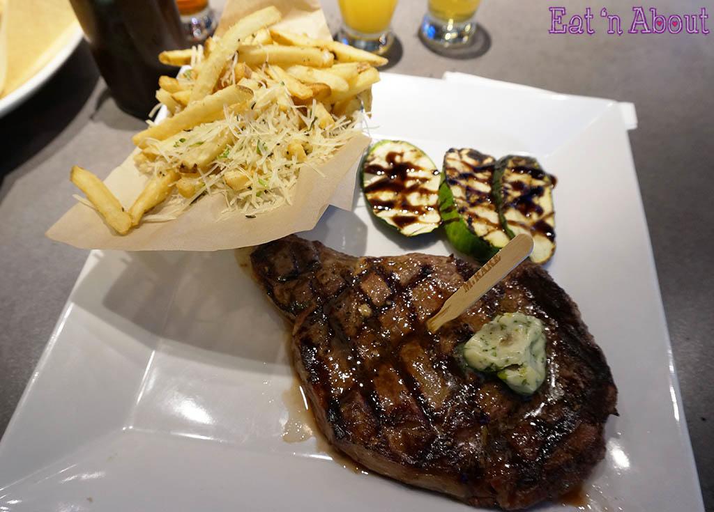 Karl Strauss Brewery & Gardens - ribeye steak frites