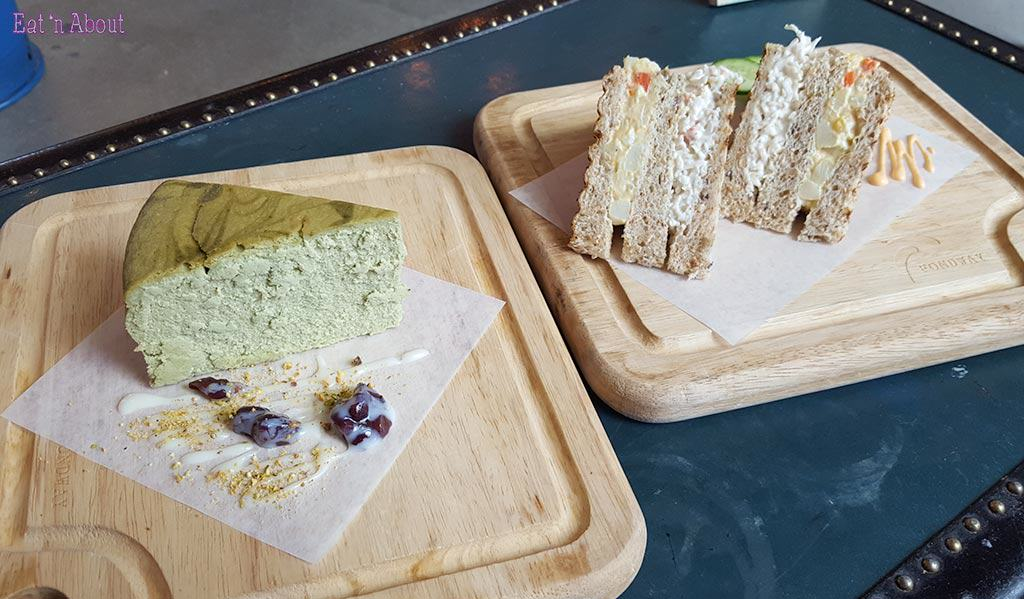 Fondway Cafe - Matcha Cheesecake & Pumpkin Crab Sandwich
