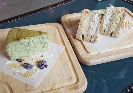 Fondway Cafe - Matcha Cheesecake & Sandwich
