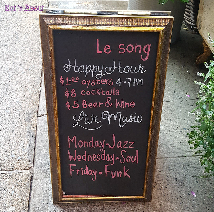 Le Song New York - Happy Hour Menu
