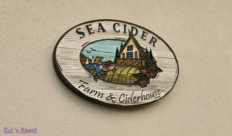 Picture of name plaque outside Sea Cider Farm & Ciderhouse, Victoria, BC