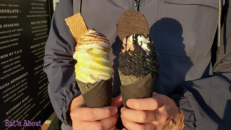 """Photo of Perverted Ice Cream's """"Lemon My F.A.O"""" and """"Brand Spanking"""""""