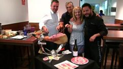 jamon iberico tasting ham carving master in León Northern Spain