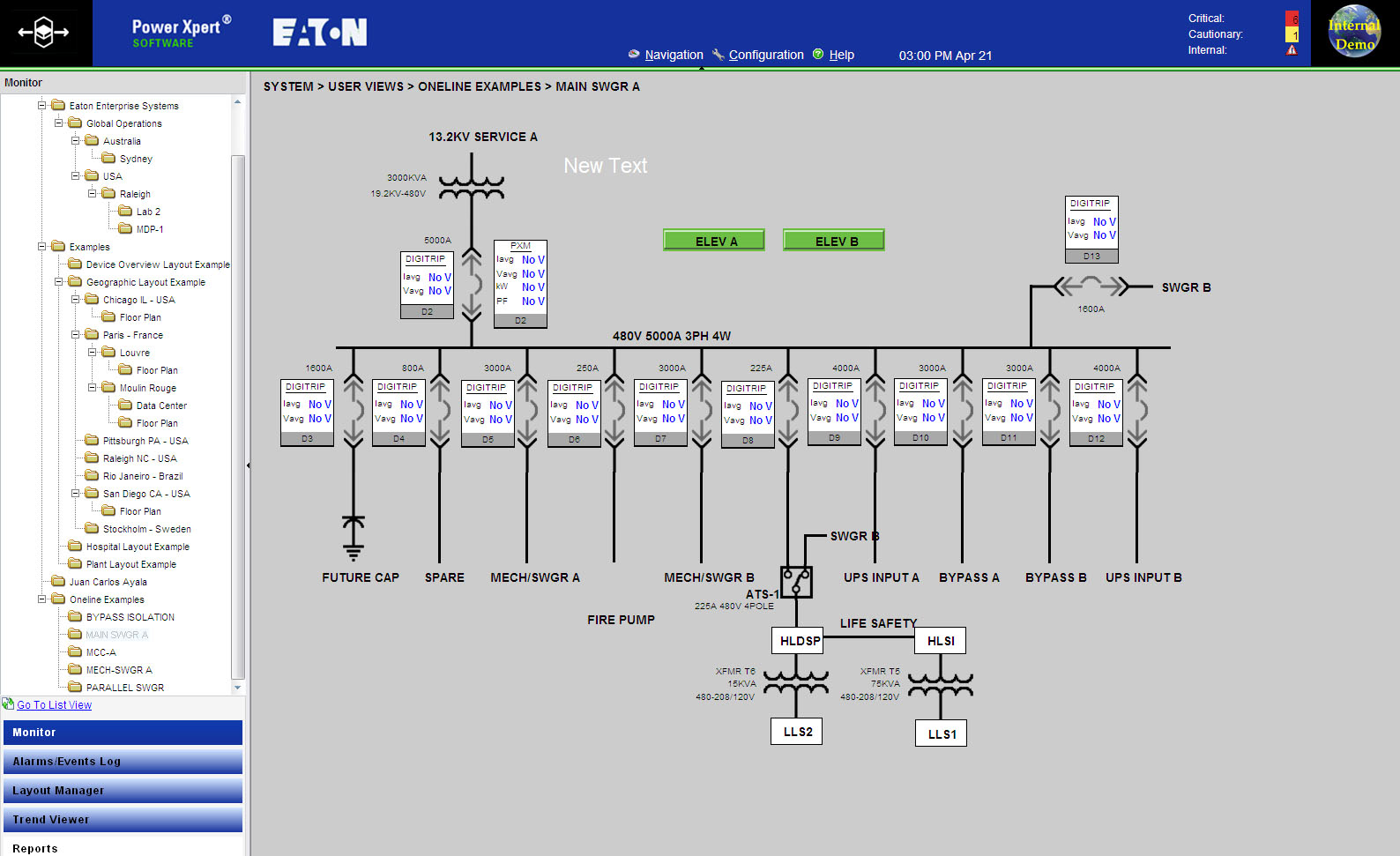 Wiring Ethernet Switch Diagram Software Power Xpert Professional