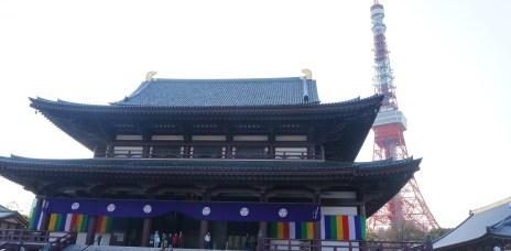 。東京 東京鐵塔。大本山 增上寺:觀賞東京鐵塔+寺廟的最佳所在。