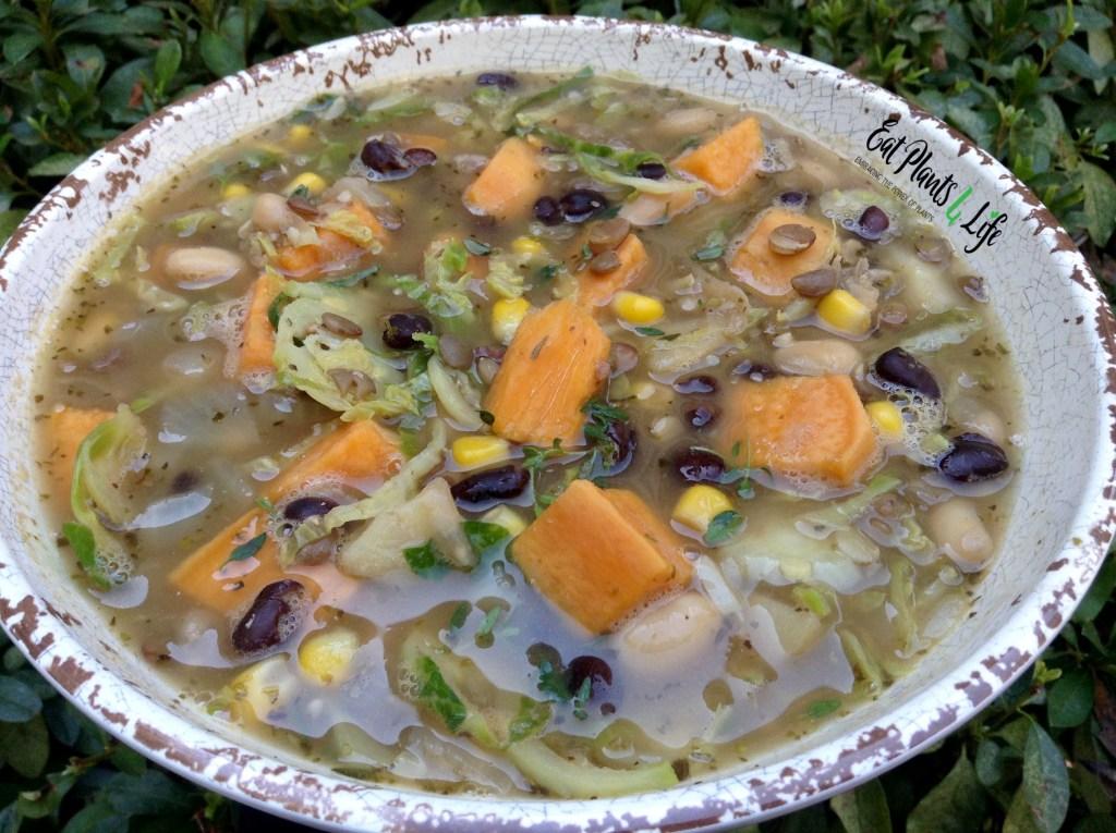 Triple Bean Sweet Potato Soup
