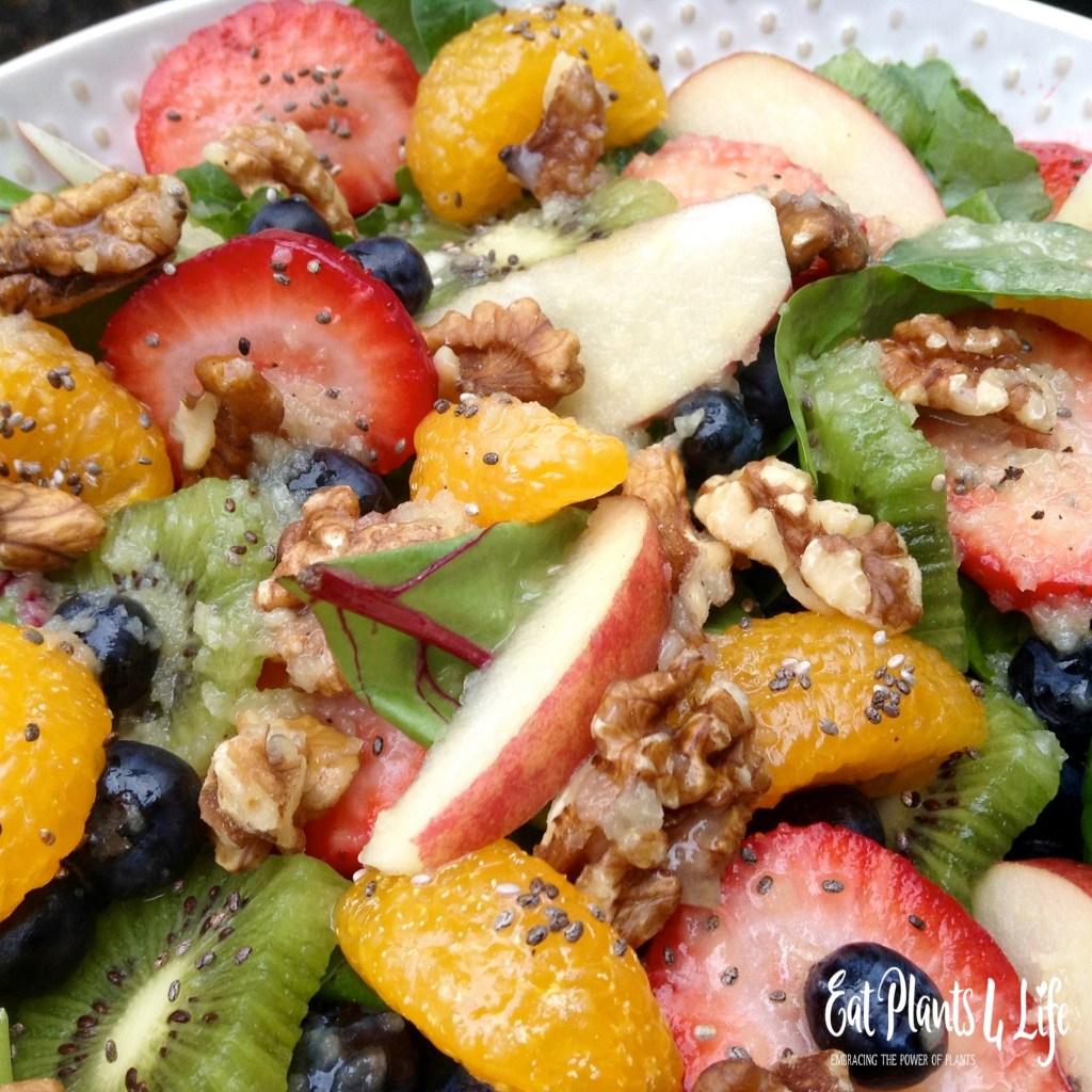 A Plate of Gold: Rainbow Salad & Fuji Vinaigrette4