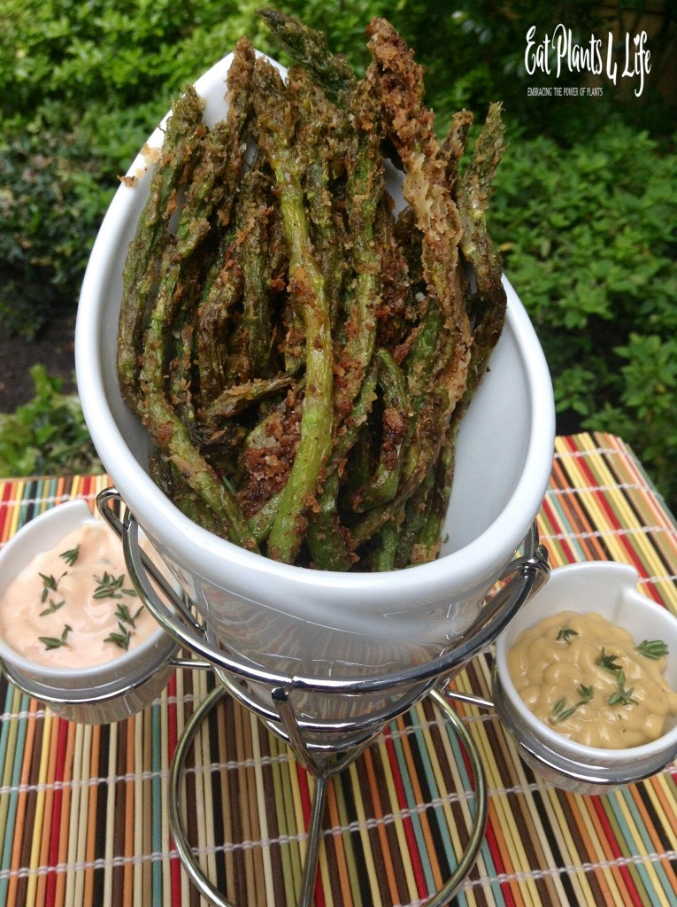 Lemon-Pepper Battered Asparagus Fries