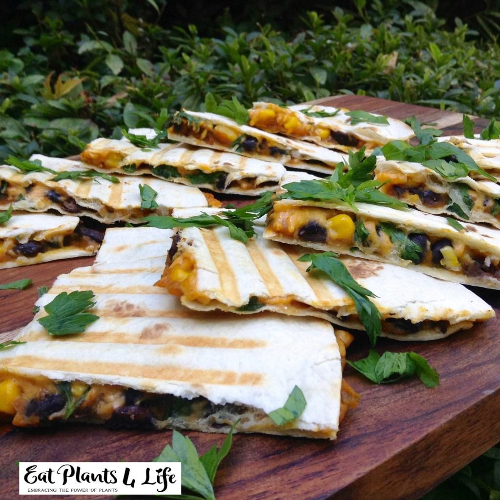 Pumpkin-Black Bean Quesadillas Recipe | Eat Plants 4 Life