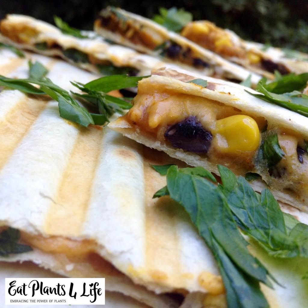 Pumpkin-Black Bean Quesadillas Recipe 4 | Eat Plants 4 Life