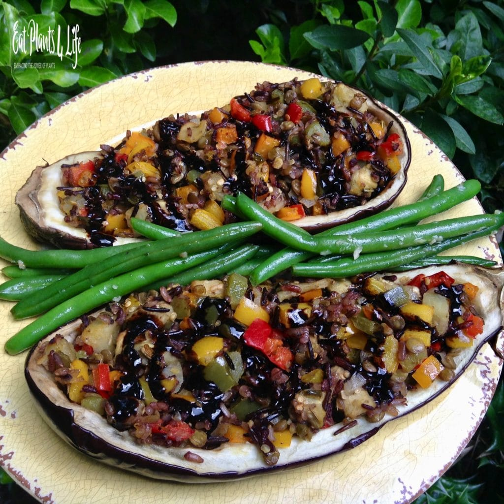 my Tabbouleh-Topped Eggplant Filets 1