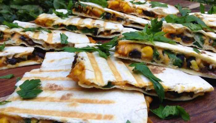 Pumpkin-Black Bean Quesadillas