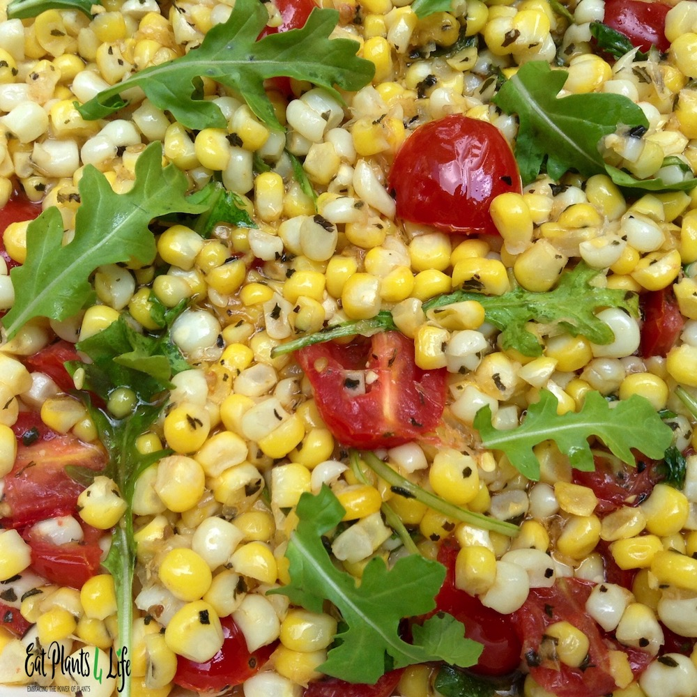 Balsamic Corn Salad & Vegan Burgers 2