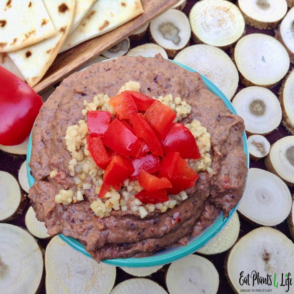 Roasted Pepper Black Bean Hummus