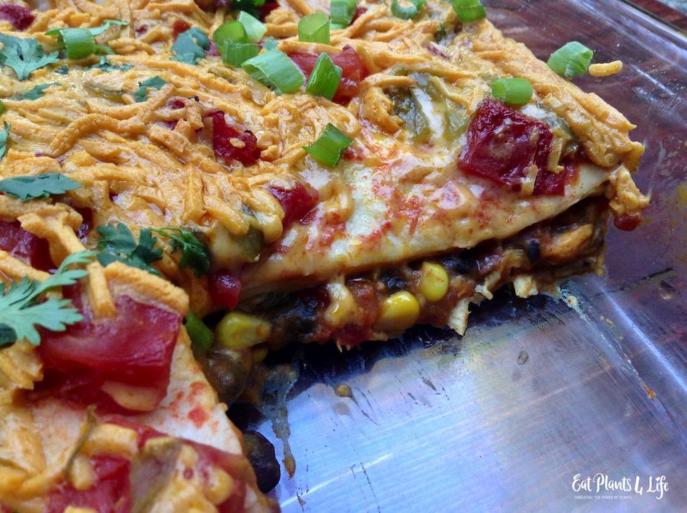 Vegan Pumpkin Enchilada Bake