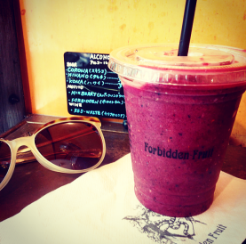 Cinnamon Acai Berry Smoothie from Forbidden Fruit, Omotesando