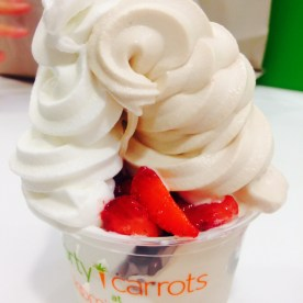 forty carrots' amazing peanut butter and tart froyo!