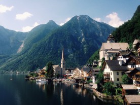 Just about the most beautiful place on earth ever: a boat ride to Hallstatt felt like a scene from a movie. Absolutely unreal.