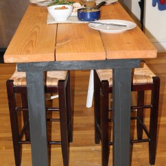 Bar Height Kitchen Tables Undermount Sink White Plans To Build How Make A Table Pdf