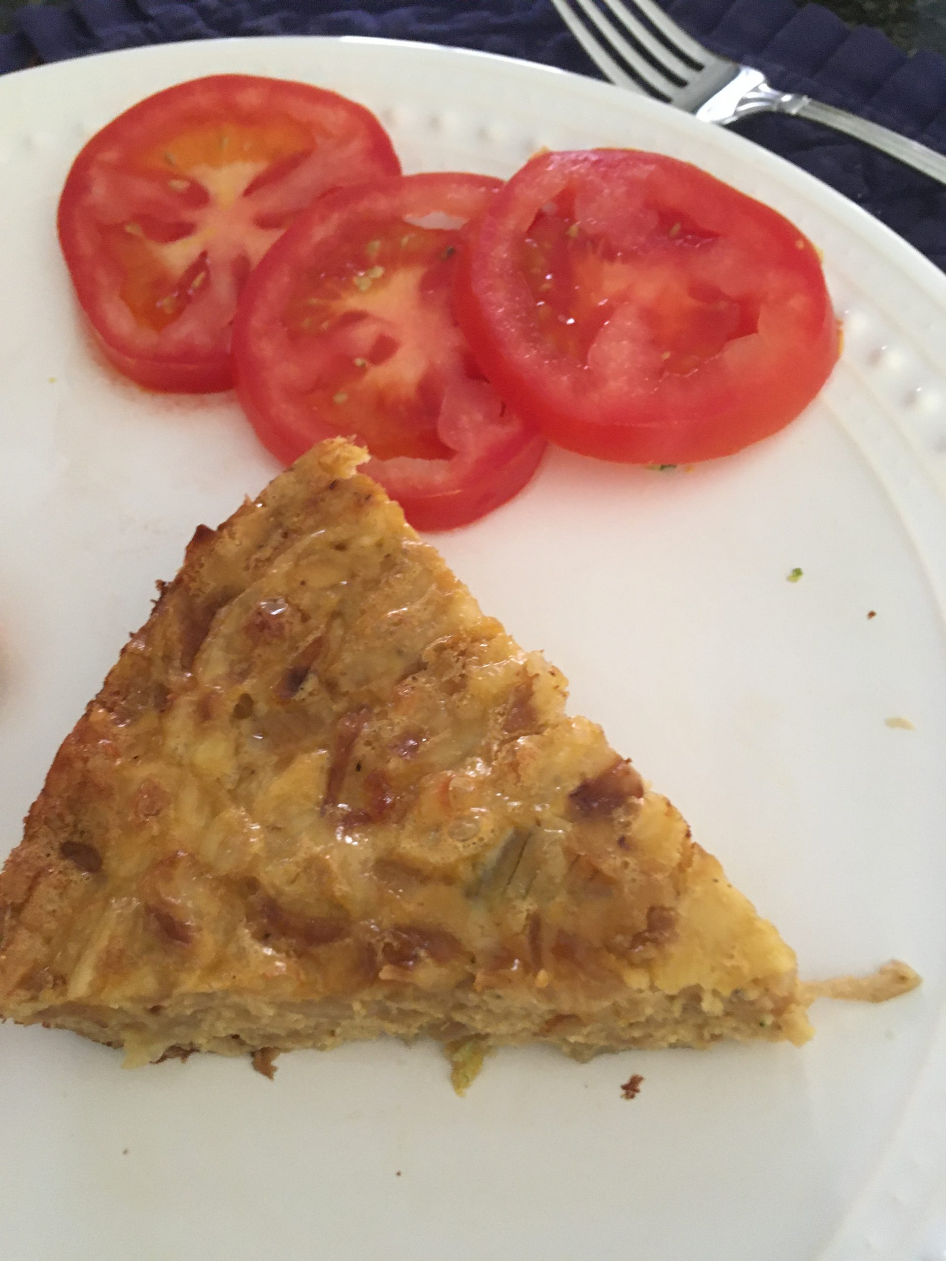 French Onion Tart with tomatoes
