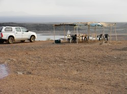 Nuestro campamento, Tadjoura, Djibouti . Foto: entreColyCol