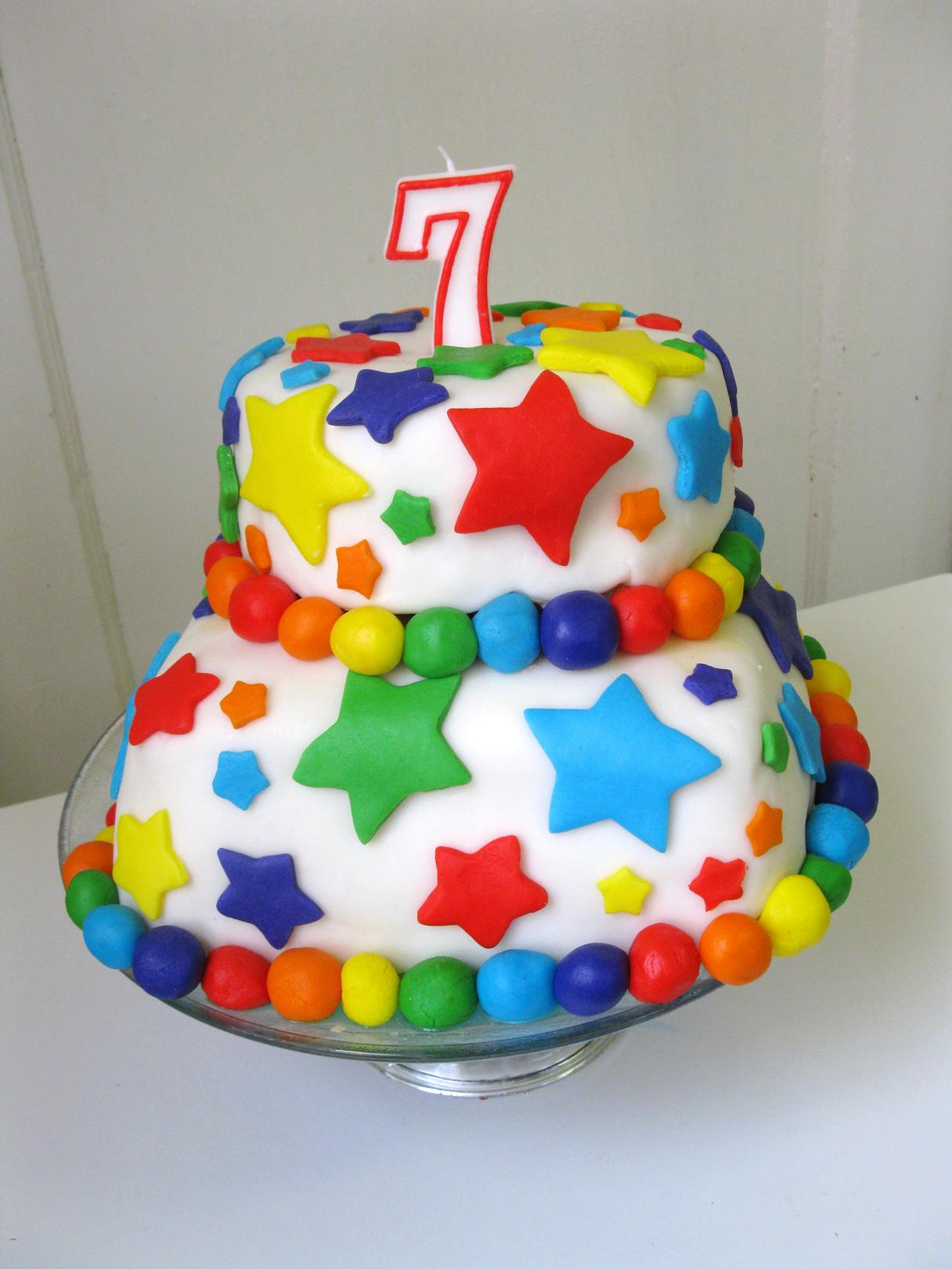 The Beautiful Rainbow Fondant Cake And Rainbow Birthday