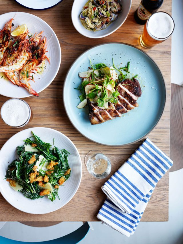 Selection of dishes from Coogee Pavilion