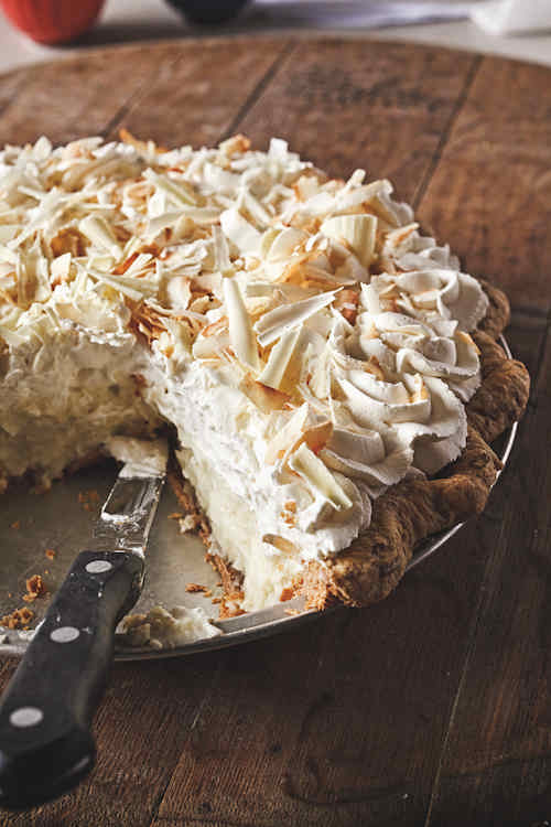 Triple coconut cream pie from Dahlia Lounge. Photo credit: Jerad Knudson.
