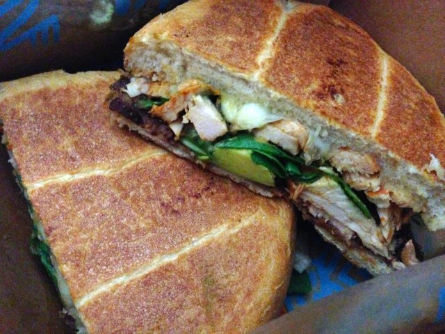 Chipotle chicken torta from Tortas Frontera
