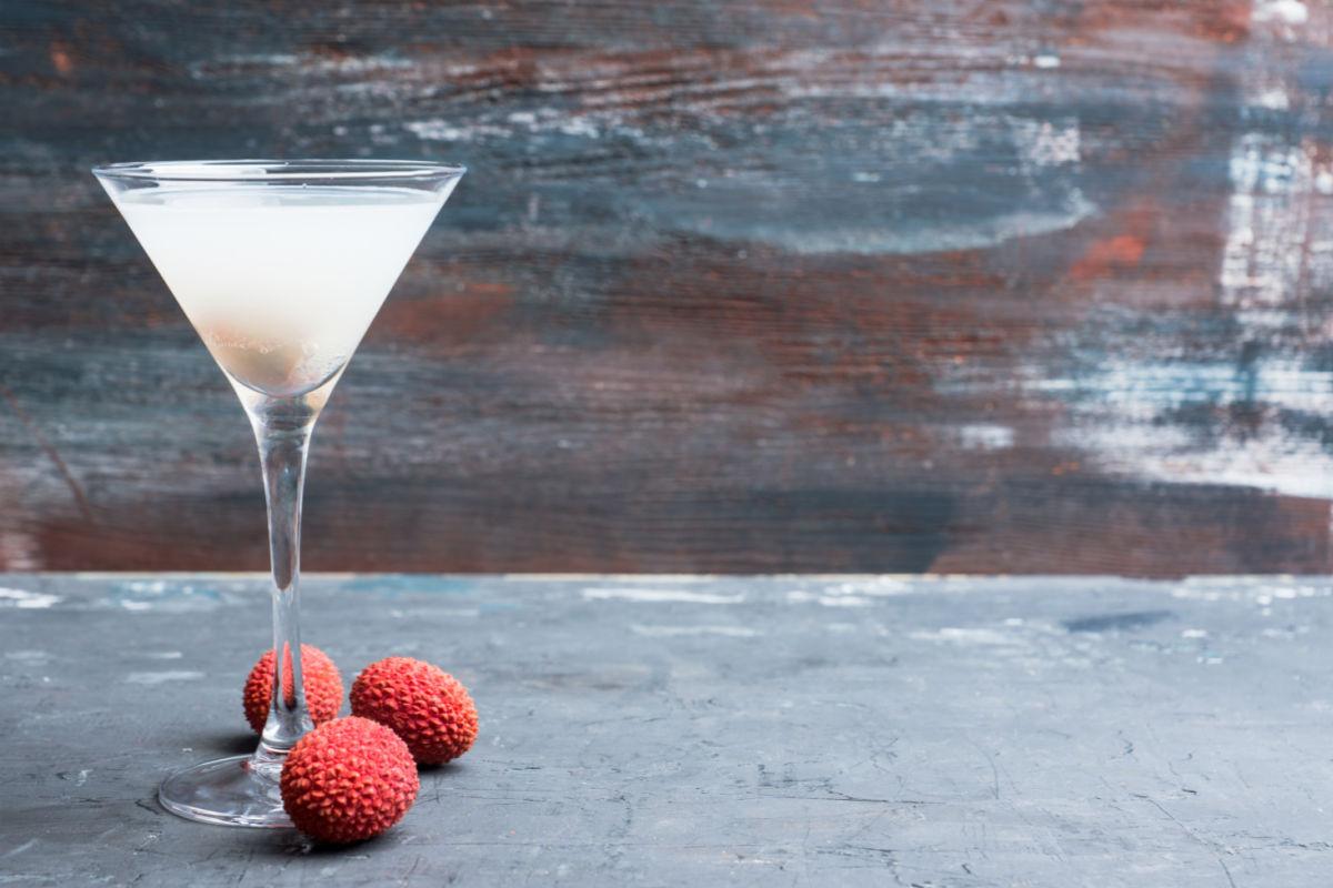 Martini glass of Cool Lychee Martini