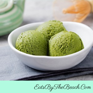 Creamy Matcha Lychee Ice Cream is an easy, tropical, and exotic treat made with matcha green tea powder and lychee fruit.