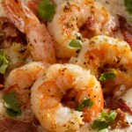 Buttery, sauteed shrimp served over cheesy grits. A Southern Classic