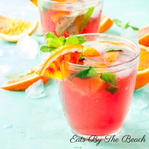 An easy craft cocktail for a minty blood orange mojito