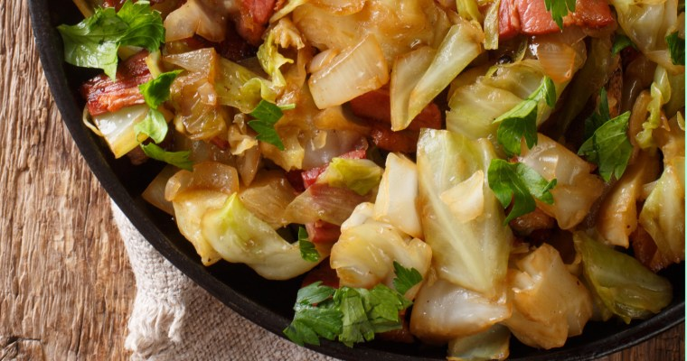 OLD FASHIONED FRIED CABBAGE