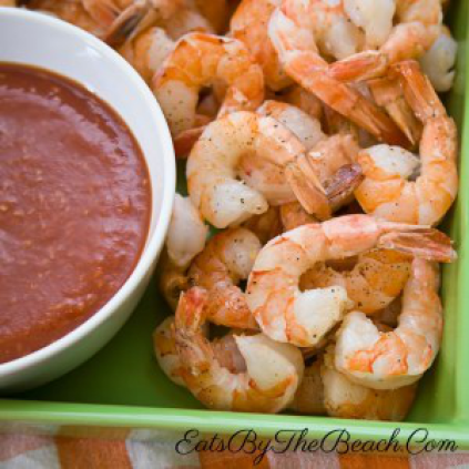 tender and juicy shrimp served with homemade sauce