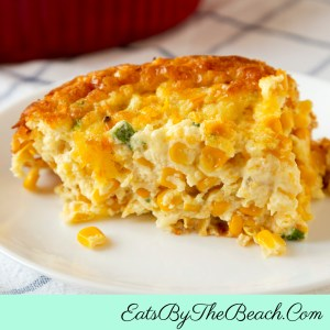 Spicy Southern Corn Casserole is a spicy take on Southern corn pudding. Full of corn, onions, and jalapenos for kick.