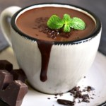 A small cup of French drinking chocolate - a thick, silky, and rich chocolate dessert