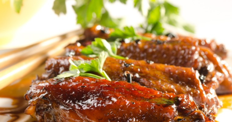 GREEN TEA GLAZED CHICKEN WINGS
