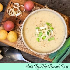 Bowl of Irish Potato Leek Soup