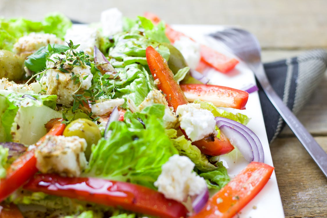 Colorful salad on a plate