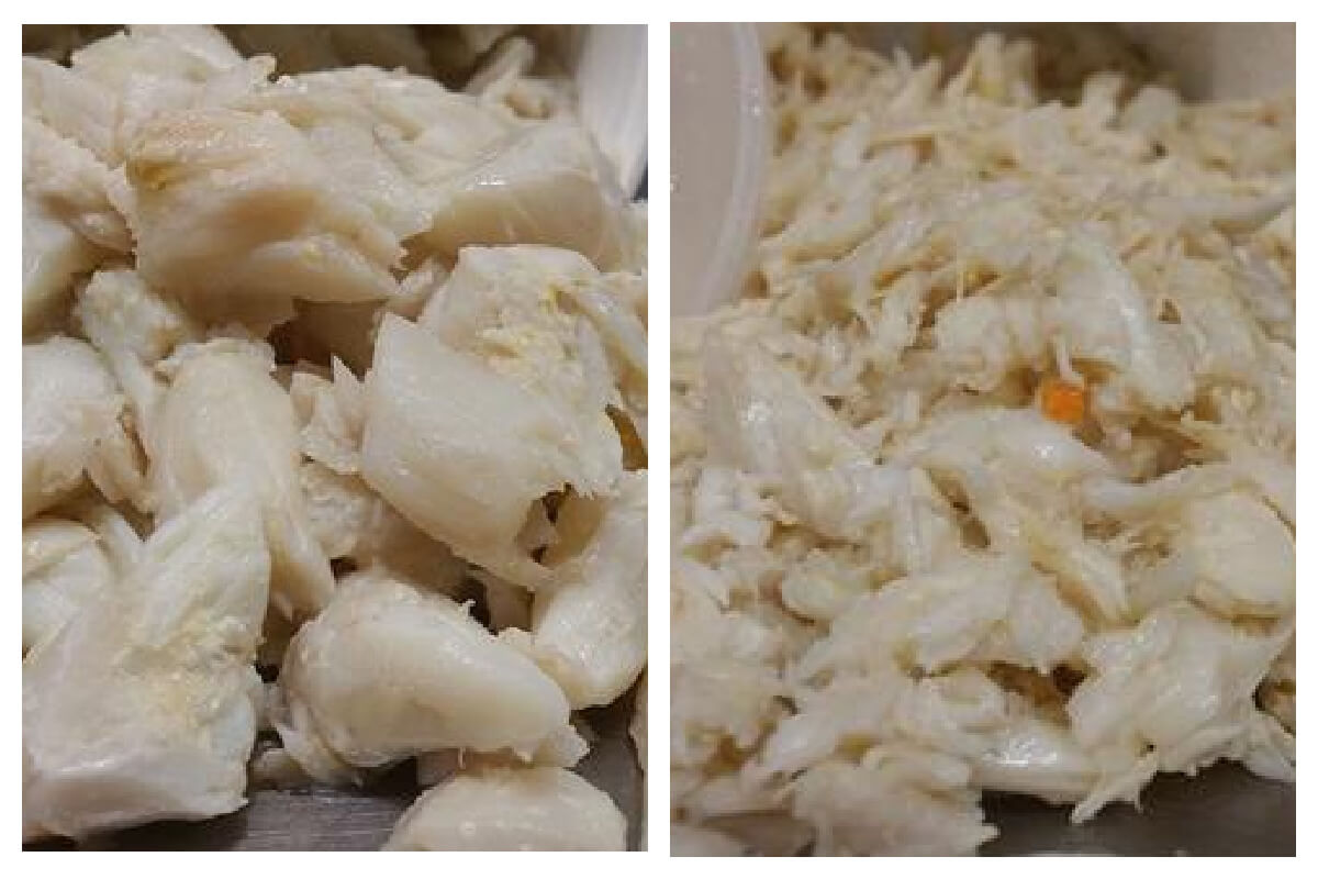 Types of Crab meat - lump crab and backfin crab