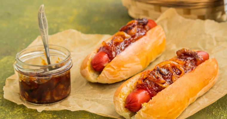 NYC-STYLE DIRTY WATER DOGS with onion sauce