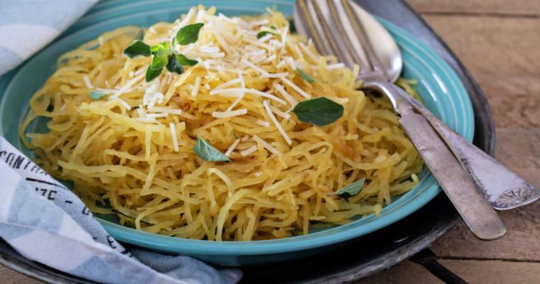 Brown Butter Garlic Parmesan Spaghetti Squash