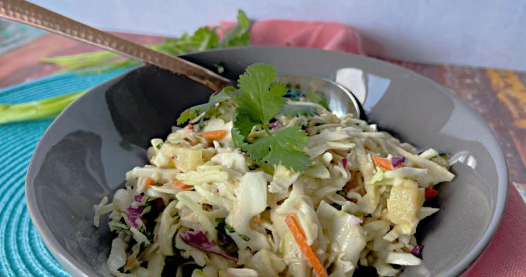 Tropical Slaw with Pineapple