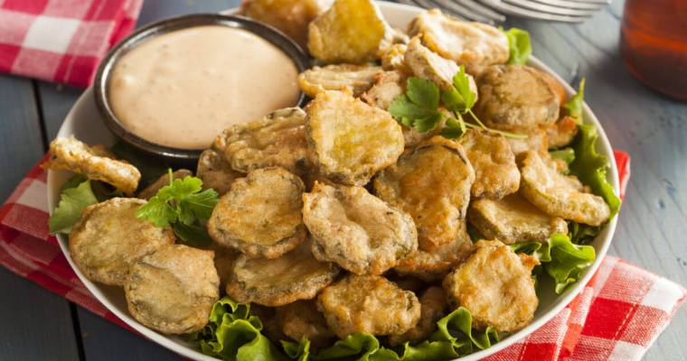 Ridiculously Good Fried Pickles